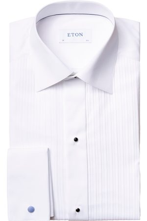 Eton White Pliss Tie Dress Shirt in CONTEMPORARY FIT 63157031000