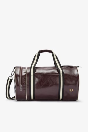 Fred Perry Fred Perry Contrast Colour Barrel Bag - Port/Black