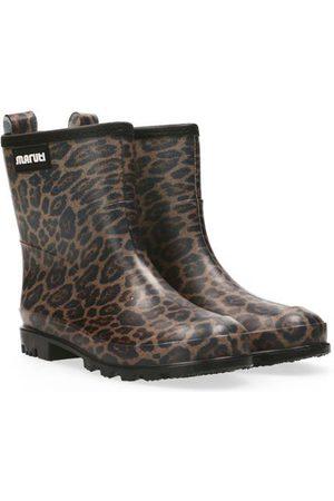 Maruti Skyler Rubber Rain Boots - Leopard/Beige