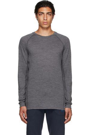 Ermenegildo Zegna Grey Mesh Long Sleeve T-Shirt