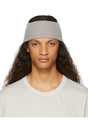 Boris Bidjan Saberi Grey Cashmere Rib Knit Headband