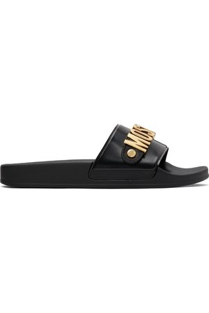 Moschino & Gold Logo Lettering Pool Slides