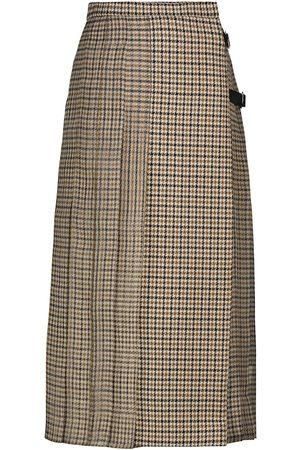 Max Mara Norel wool and silk midi skirt
