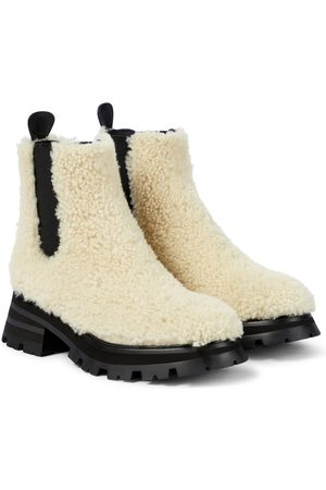 Alexander McQueen Shearling ankle boots