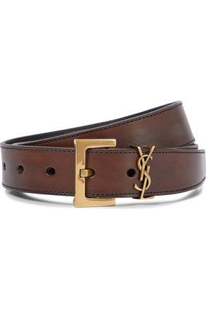 Saint Laurent Women Belts - Monogram leather belt