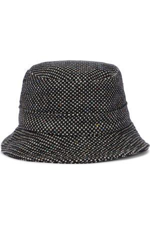 Gabriela Hearst Women Hats - Checked cashmere bucket hat