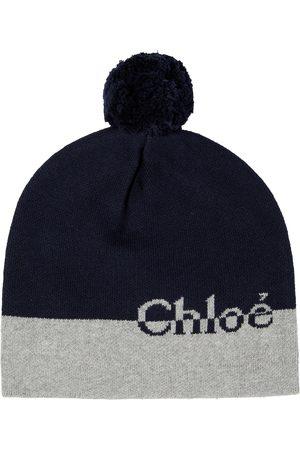 Chloé Cotton and wool logo beanie