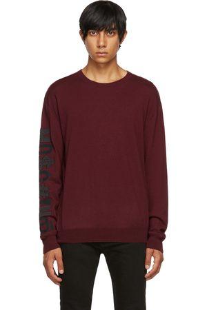 Moschino Burgundy Cashmere Symbols Logo Sweater