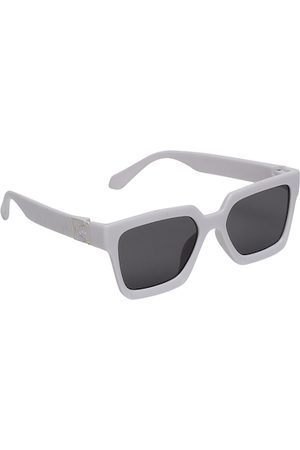 FROGGY Unisex Kids Black Lens & White Sunglasses with UV Protected Lens-FG-WAL-05