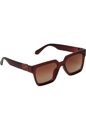 FROGGY Unisex Kids Brown Lens & Brown Rectangle Sunglasses with UV Protected Lens