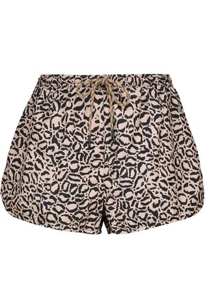 The Upside Women Shorts - Efrem leopard-print track shorts