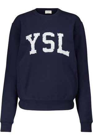 Saint Laurent Women Sweatshirts - Logo cotton sweatshirt