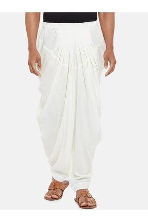 Pantaloons Men Off White Solid Salwar