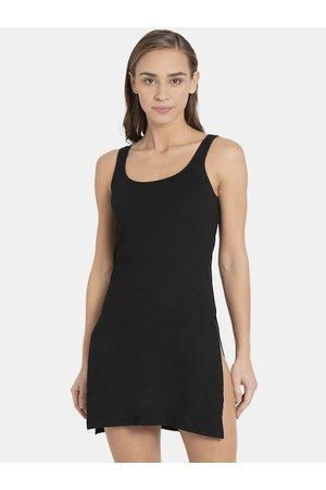 Jockey Women Black Solid Long Camisole 1488