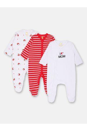 Babysafe Infant Boys Pack Of 3 Sleepsuits