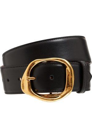 Alexander McQueen Molten Ecolux Leather Belt
