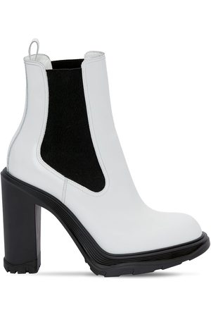Alexander McQueen Women Ankle Boots - 120mm Brushed Leather Ankle Boots