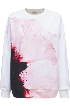 ALEXANDER MCQUEEN Pink Paper Flower Sweatshirt