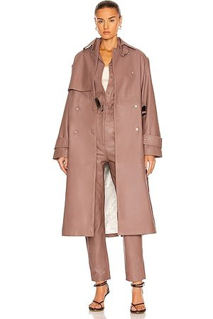 REMAIN Piretta Leather Trench Coat in Fawn