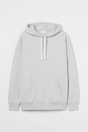 H&M Men Hoodies - Cotton hoodie - Grey