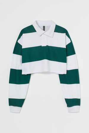 H&M Cropped rugby shirt