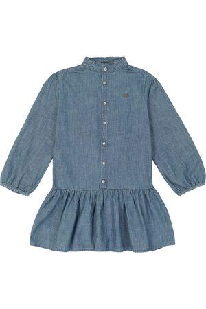 Ralph Lauren Long-sleeved cotton chambray dress
