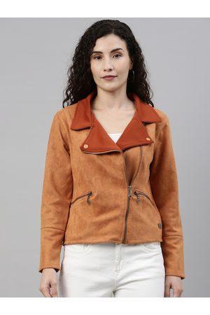 Campus Women Brown Windcheater Outdoor Tailored Jacket