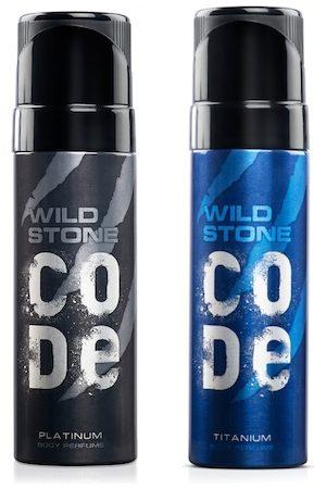 Wild stone Men Set Of Code Platinum & Titanium Body Perfume