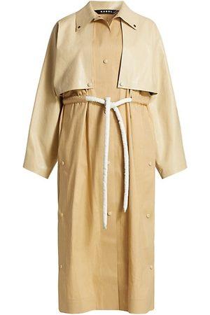 Kassl Women Trench Coats - Cape Drawstring Trench Coat