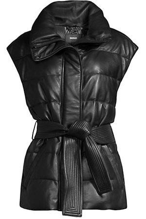 Mackage Zerina Leather Belted Vest