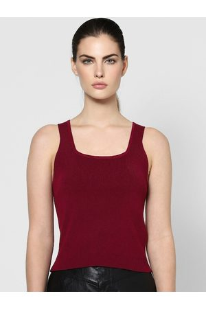 ONLY Maroon Tank Top