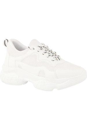 Shoetopia Women White Woven Design Trekking Shoes