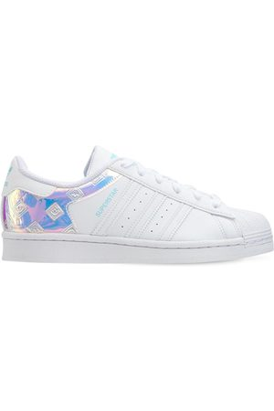 adidas Girls Sneakers - Superstar Leather Lace-up Sneakers