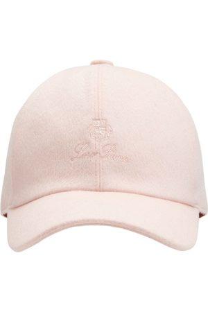 Loro Piana Girls Hats - Logo Cashmere & Wool Baseball Hat