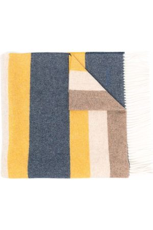 Church's Colour-block striped-pattern fringed scarf