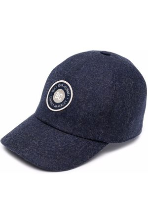 Brunello Cucinelli Logo-patch virgin wool cap
