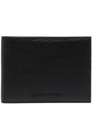 Emporio Armani Men Wallets - Pebbled bi-fold wallet