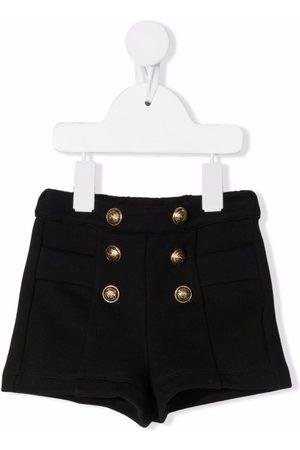 Balmain Double-breasted cotton shorts