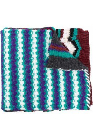Marni Men Scarves - Geometric jacquard-knit scarf