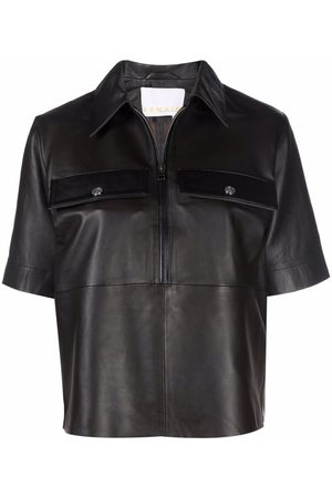 REMAIN Short-sleeved leather top