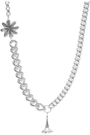 Georgia Kemball Men Necklaces - Daisy Flower Combination Curb Necklace