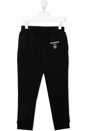 Balmain Girls Trousers - Logo-print track pants