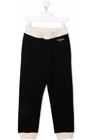 Balmain Logo-print cotton track trousers