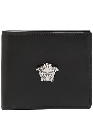 Versace Men Wallets - Medusa motif leather wallet