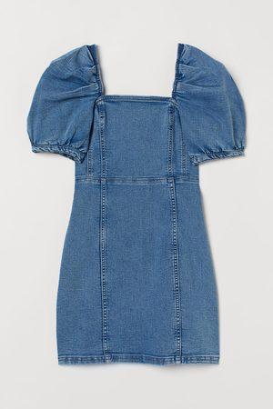H&M Puff-sleeved denim dress