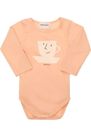 BOBO CHOSES Girls Bodysuits & All-In-Ones - Printed Organic Cotton Bodysuit