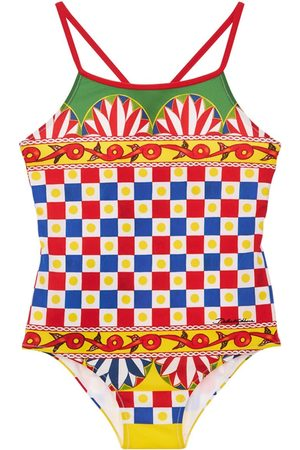 DOLCE & GABBANA All Over Print Lycra One Piece Swimsuit