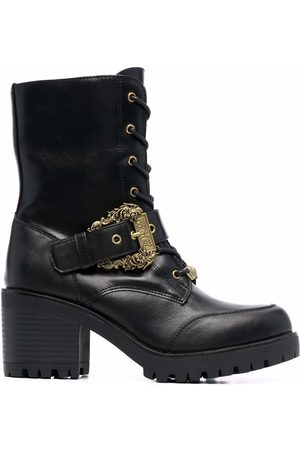 VERSACE Buckled leather boots