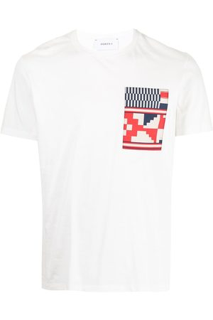 Ports V Geometric-print logo T-shirt