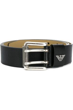 Emporio Armani Logo plaque buckle belt